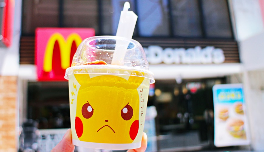 日本麥當勞寶可夢皮卡丘香蕉巧克力冰炫風2017
