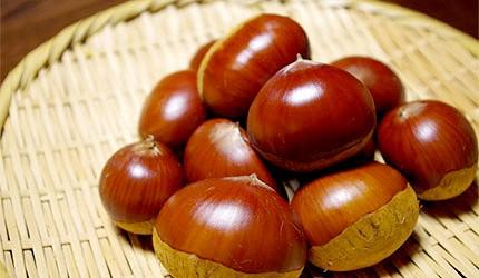 日本美食蔬菜糖炒栗子栗子飯示意圖
