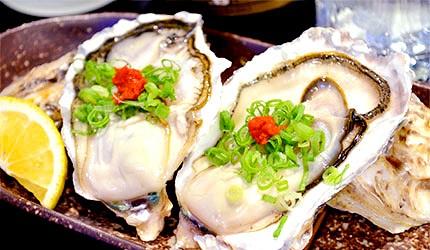 日本美食海鮮烤牡蠣生牡蠣示意圖