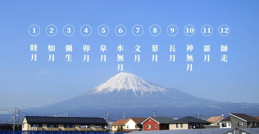 日本節氣12月份別稱由來日語1月睦月むつき2月如月きさらぎ3月彌生弥生やよい4月卯月うづき5月皐月さつき6月水無月みなづき7月文月ふみづき8月葉月はづき9月長月ながつき10月神無月かんなづき11月霜月しもつき12月師走しわす