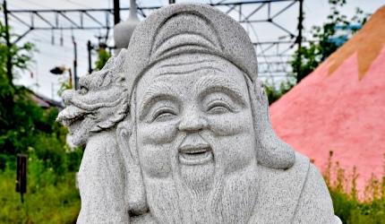戴頭巾的壽老人