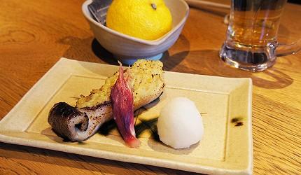 東京銀座和食居酒屋推薦銀政爐端燒的料理「銀鱈西京燒」