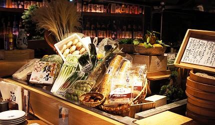 東京銀座和食居酒屋推薦銀政爐端燒的食材新鮮