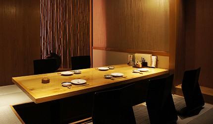 東京銀座和食居酒屋推薦銀政爐端燒的私人包廂座位