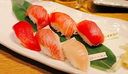 東京新橋海鮮居酒屋ニッポンまぐろ漁業団的天然鮪魚握壽司