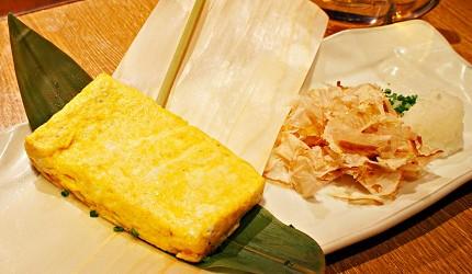 東京新橋海鮮居酒屋ニッポンまぐろ漁業団的高湯玉子燒與鮪魚片