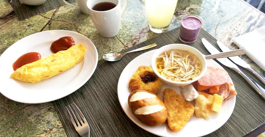 旅館飯店早餐示意圖