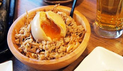 東京美食推薦串燒居酒屋「鶏鬨 勝どき店」的醣心蛋馬鈴薯沙拉