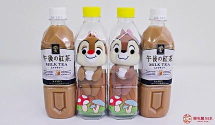 午後的紅茶瓶裝奇奇蒂蒂玩偶組合。午後の紅茶2018日本便利商店必買NewDays KIOSK限定販售價錢1000日圓