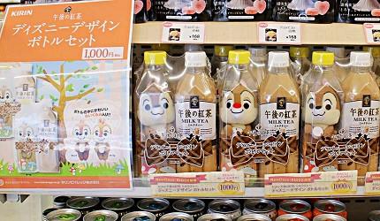 午後的紅茶瓶裝奇奇蒂蒂玩偶組合。午後の紅茶2018日本便利商店必買NewDays KIOSK限定販售
