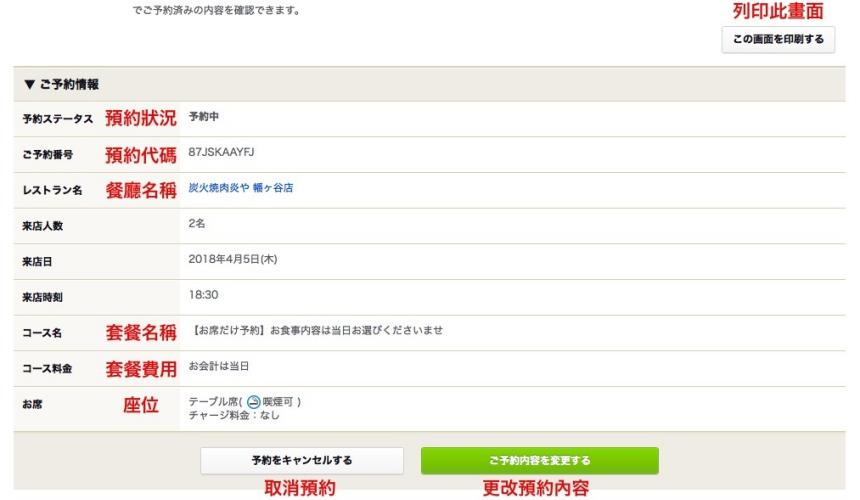 日本美食評價網站「食べログ」的餐廳預約教學!店家預約內容畫面