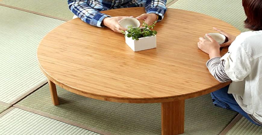 日本和室矮餐桌小餐桌示意圖