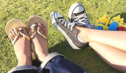 日本旅遊夏季夏天穿搭推薦單品帆布鞋涼鞋拖鞋透氣球鞋