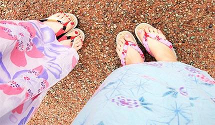 夏の風物詩日本夏天傳統服裝和服浴衣
