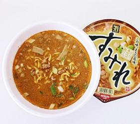 日本人氣拉麵店泡麵すみれ札幌濃厚味噌拉麵泡好的狀態