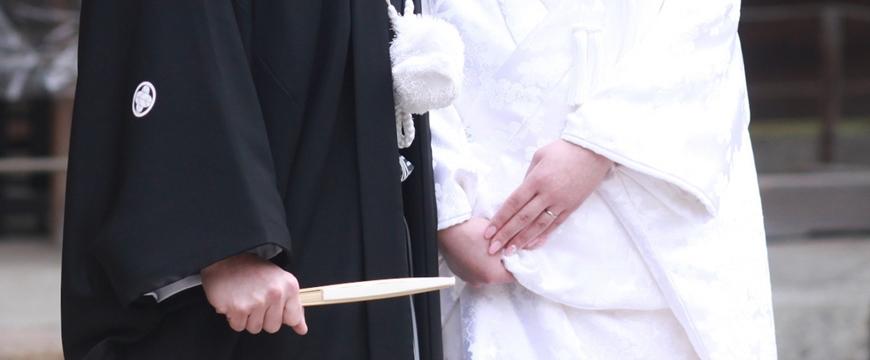 日本传统结婚仪式中使用的白无垢
