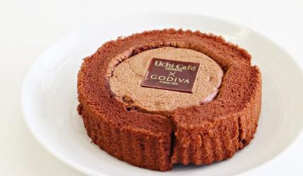 Uchi Café SWEETS × GODIVA 巧克力瑞士卷甜點蛋糕捲 ショコラロールケーキ