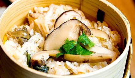 日本美食蔬菜烤松茸示意圖