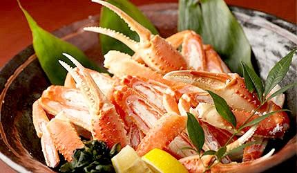 日本美食海鮮烤螃蟹毛蟹帝王蟹松葉蟹示意圖