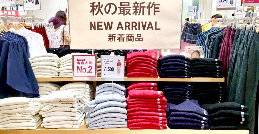 平價服飾UNIQLO秋季衣物圖示