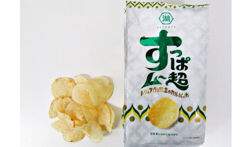 湖池屋洋芋片2017年9月發售的新口味「すっぱムー超」