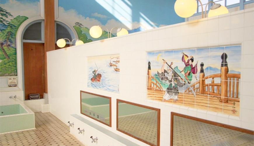 不必花大錢住溫泉旅館!9步驟闖關日式「錢湯」,體驗在地泡湯樂趣錢湯(澡堂)示意圖
