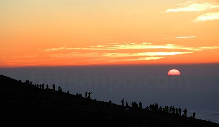 富士山頂日出
