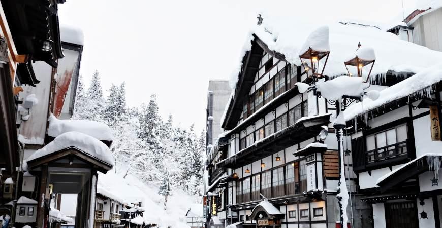 銀山溫泉雪景
