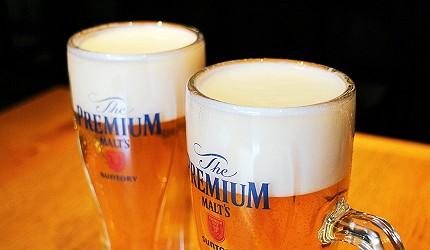 SUNTORY三得利生啤酒The PREMIUM MALT'S的泡沫綿密細緻