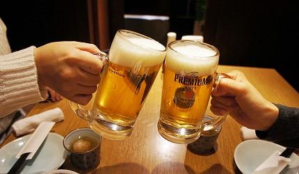 日本東京海鮮料理推薦ニッポンまぐろ漁業団享用SUNTORY三得利生啤酒The PREMIUM MALT'S