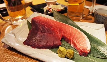 東京新橋海鮮居酒屋ニッポンまぐろ漁業団的天然鮪魚生魚片