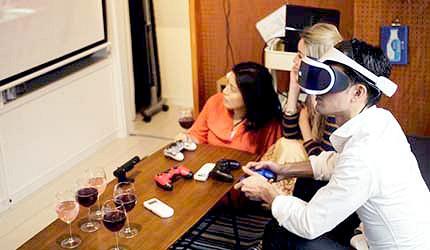VR裝置3D眼鏡示意圖