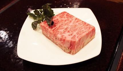 日本東京和牛鐵板燒料理銀座「響や」的A3黑毛和牛100g
