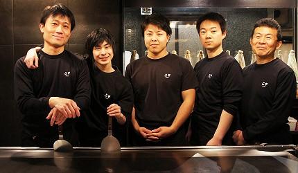 日本和牛居酒屋銀座「響や」親切的師傅與服務人員