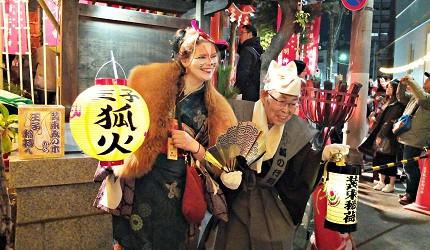 東京跨年王子稻荷神社狐狸遊行
