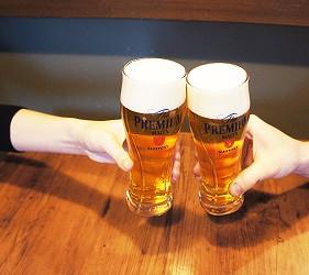 日本三得利SUNTORY生啤酒The Premium Malt's乾杯!