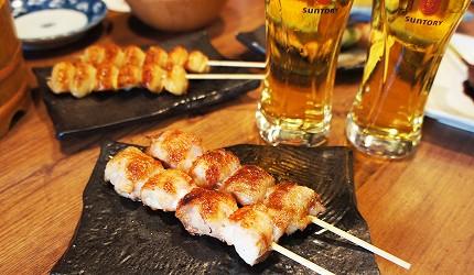 東京美食推薦串燒居酒屋「鶏鬨 勝どき店」的雞肉串燒「Toridoki」