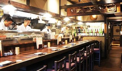 日本東京美食串燒居酒屋鶏鬨 勝どき店的吧檯座位