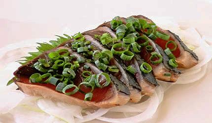 日本春天春季美食鰹魚初鰹生魚片示意圖