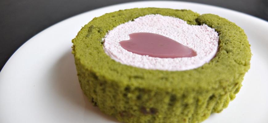 樱花抹茶蛋糕卷桜と抹茶のロールケーキ