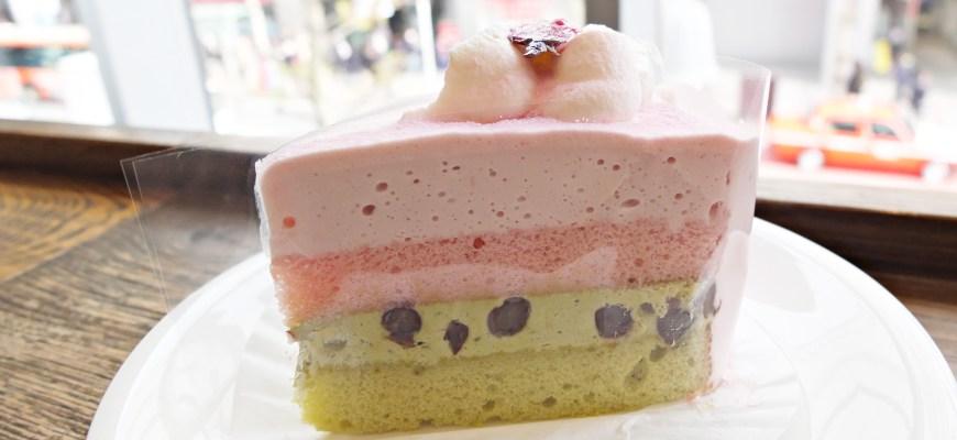 樱花抹茶蛋糕さくらと抹茶のケーキ