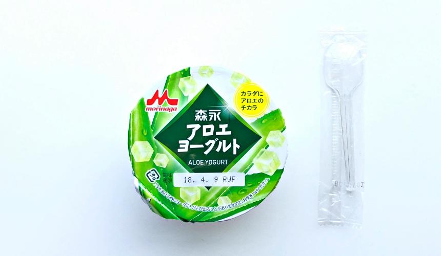 日本人氣優格試吃推薦:日本便利商店、超市買得到的優格:森永蘆薈(アロエ)優格照片
