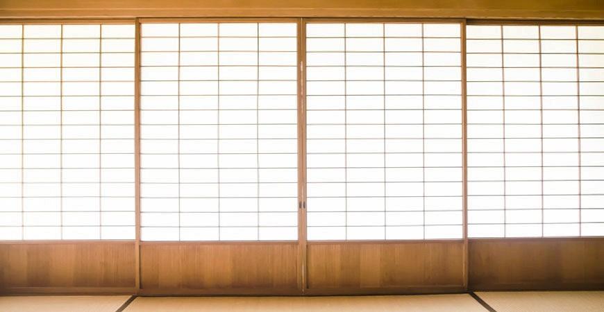 日本和室纸格窗纸窗示意图