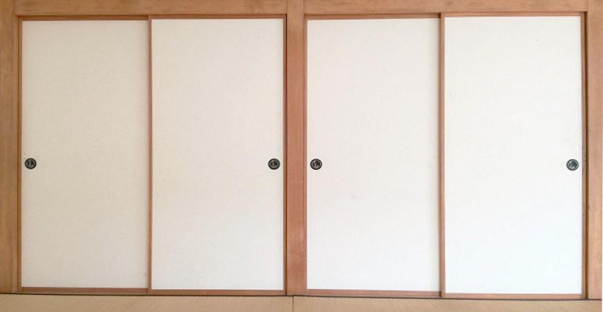 日本和室纸门拉门示意图