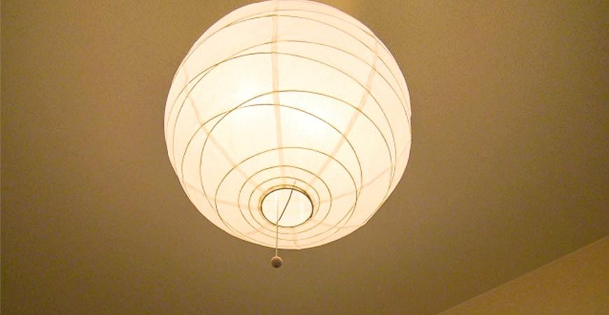 日本和室灯纸灯吊灯示意图
