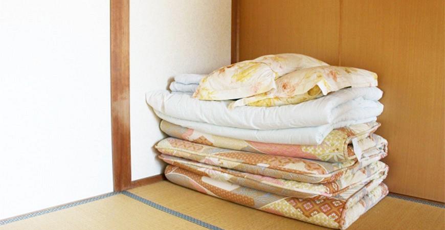 日本和室日式床埝床褥折叠被示意图