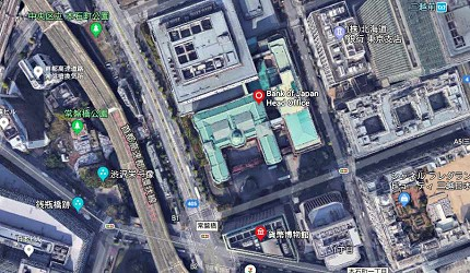 円字日本銀行屋頂