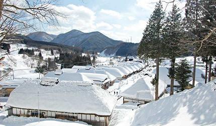 大内宿的雪祭