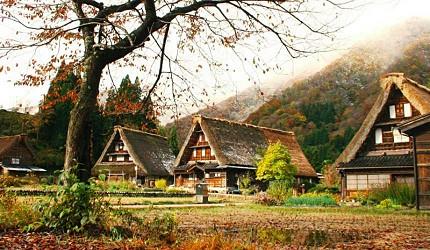 五个山管沼合掌村的秋景