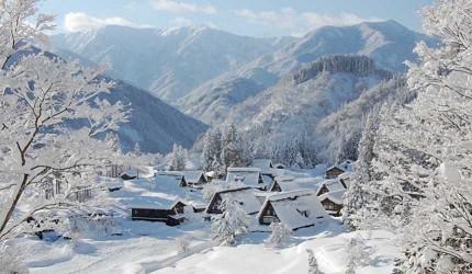 五箇山相倉合掌村的冬景